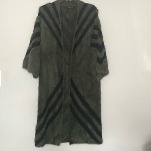Sweaters - Long Open front cardigan